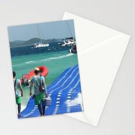 Floating pier, Banana beach, Koh Hey island, Thailand Stationery Cards