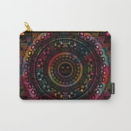 Rainbow Kitty Cat Mandala Carry-All Pouch
