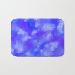 Abstract Clouds - Rich Royal Blue Bath Mat