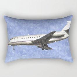 Dassault Falcon 2000 Jet Art Rectangular Pillow