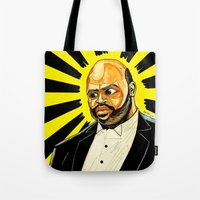 """fresh prince Tote Bags featuring Fresh Prince - """"The Ascension of James/Phil"""" by hawkeyesour"""