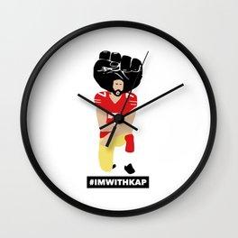 Kaepernick Kneeling imwithkap Wall Clock