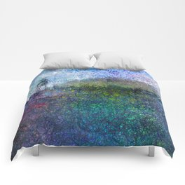 The Hill - Abstract Modern colourful Comforters
