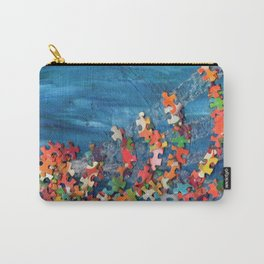 A Puzzling Wave Carry-All Pouch