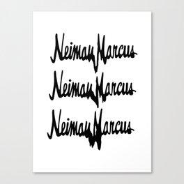 NM Drip (black only) Canvas Print