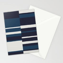 painted broken stripe-blue Stationery Cards