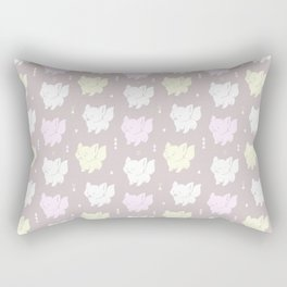 Cute Happy Kittens on a Grey Background Rectangular Pillow