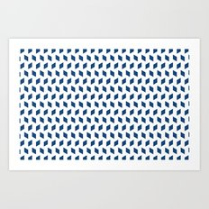 rhombus bomb in monaco blue Art Print