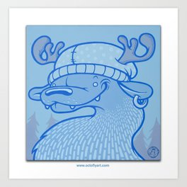 Blue Hairpin Art Print