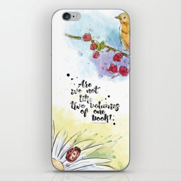 Two Volumes of the Same Book iPhone Skin