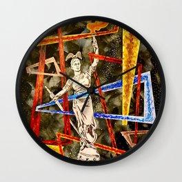 Monumental geometric Wall Clock