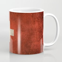 Old and Worn Distressed Vintage Flag of Switzerland Coffee Mug