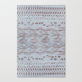 knit patchwork in pale mood Canvas Print
