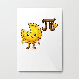 Pi Eating Pie Funny Pi Day  Gift for Math Geek Men Women T Shirt Metal Print