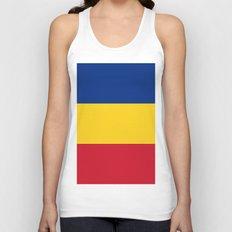 Flag of Romania Unisex Tank Top