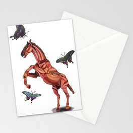 horse and butterfly Stationery Cards