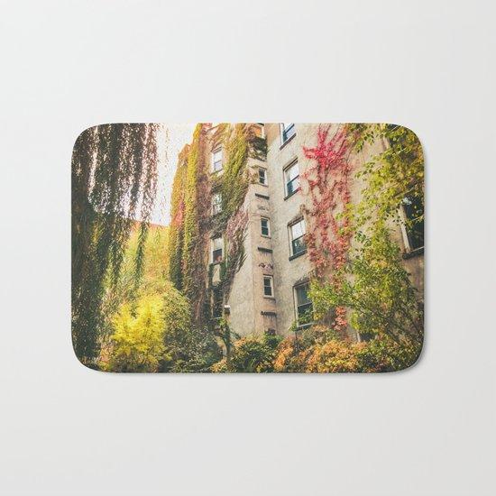 Autumn - New York City - East Village Garden Bath Mat