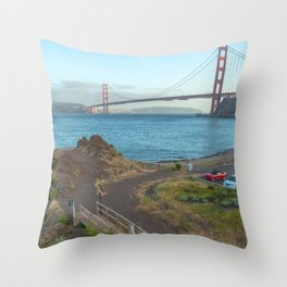 Stairs to the Gate Throw Pillow