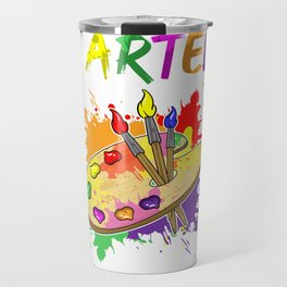 I Arted Artistic Pun Creative Artist Painting Travel Mug