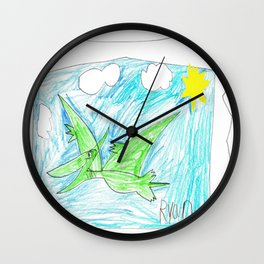 Flying Pteranodon Wall Clock