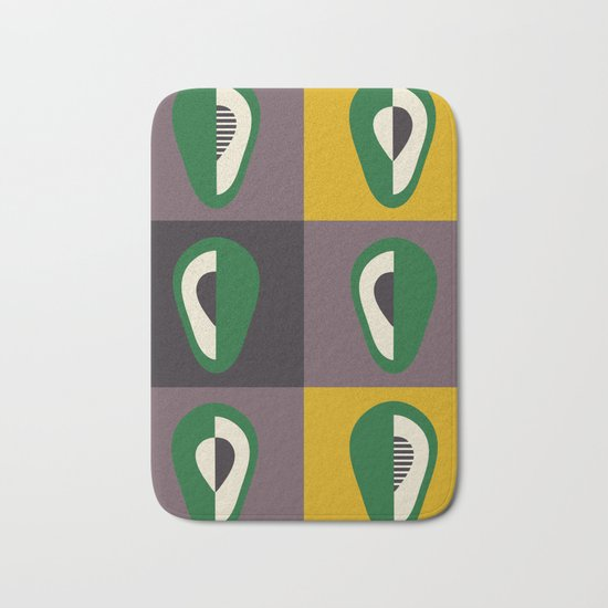 Avocado print Bath Mat