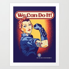 Rosie The Retrogamer Art Print