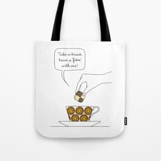 time for fika Tote Bag