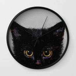 Black Kitten Wall Clock