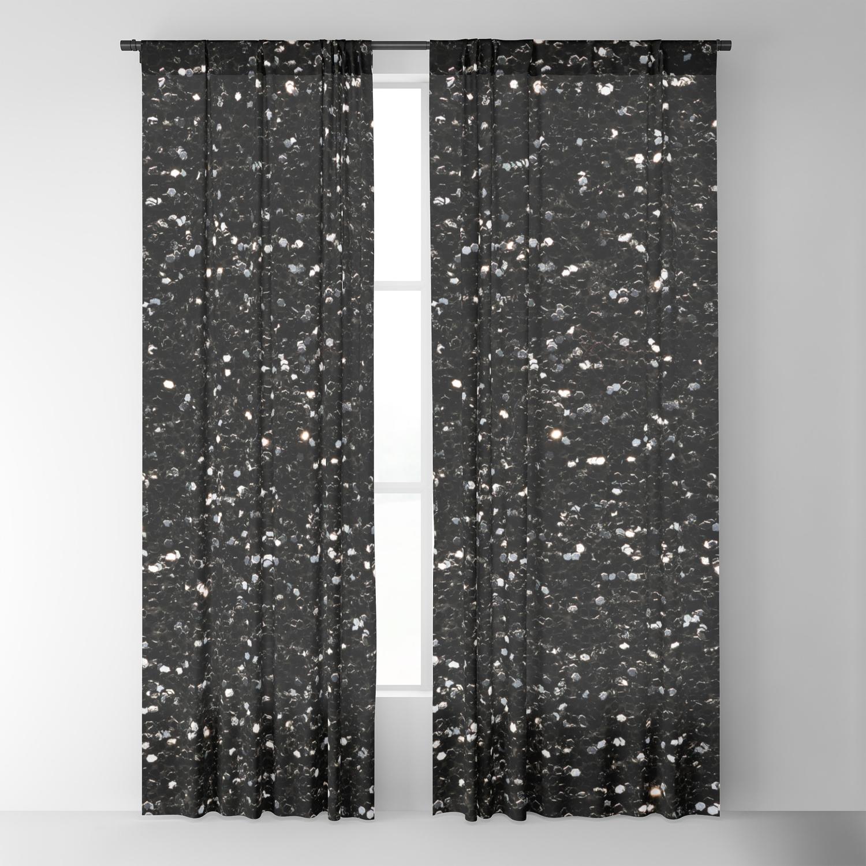 Black And White Shiny Glitter Sparkles