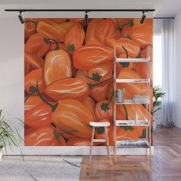 Habanero Peppers Wall Mural