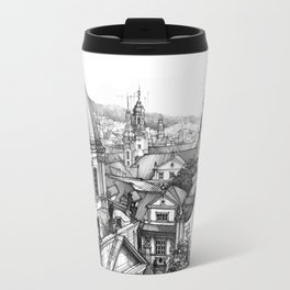 Prague over the rooftops Travel Mug