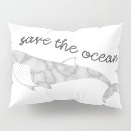 Save The Ocean - Marble Whale Pillow Sham