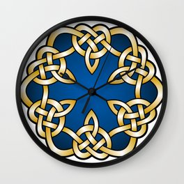 Royal Blue Mandala Knot Wall Clock