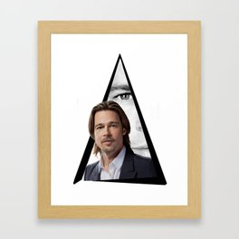 Youtriangle ∆ BradPitt Framed Art Print