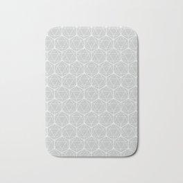 Icosahedron Soft Grey Bath Mat