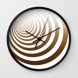 Brown Earth Concentric Circles Wall Clock