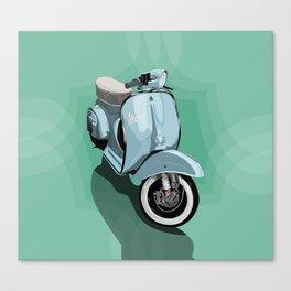 Vespa bluish Canvas Print