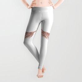 Pretty Lashes Rose Gold Glitter Pink Leggings