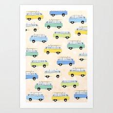 Volkswagen Type 2 pattern Art Print