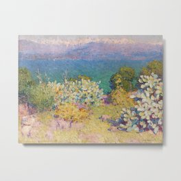 John Peter Russell - In the morning, Alpes Maritimes from Antibes Metal Print