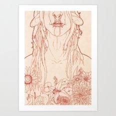 Blume Art Print
