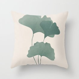 Ginko Leaves Throw Pillow