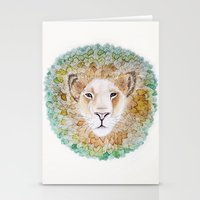 simba Stationery Cards featuring Simba by Juliette Thornbury