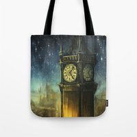 alicexz Tote Bags featuring Something for the Nerves by Alice X. Zhang