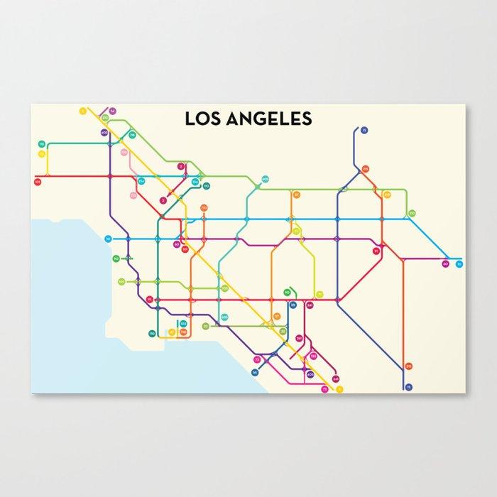 Los Angeles Freeway System Canvas Print
