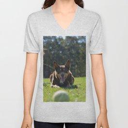Onea, Australian Cattle Dog Unisex V-Neck