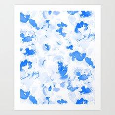 AbstractFlora Lapis Blue Art Print