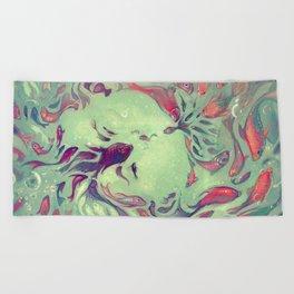 WISH FISH Beach Towel