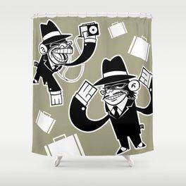 Köpke's Mafia Monkeys! Shower Curtain