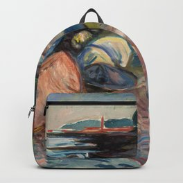 """Edvard Munch """"Shore with Red House"""", 1904 Backpack"""